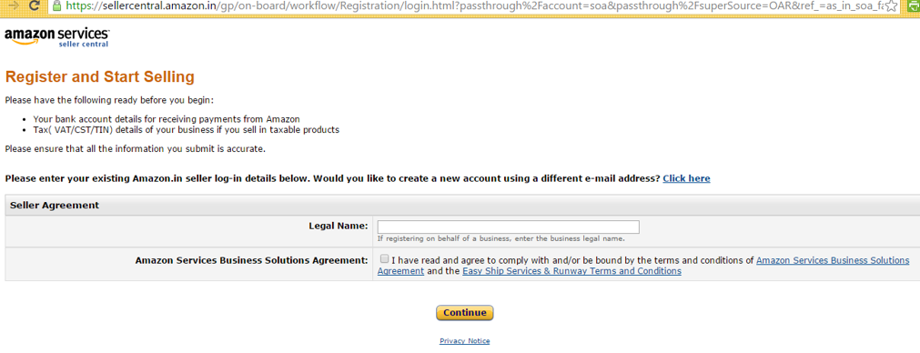 Register With Amazon As Seller Step By Step Guide With Screenshots