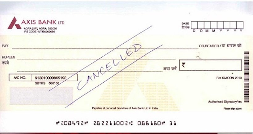 Canceling a Cheque
