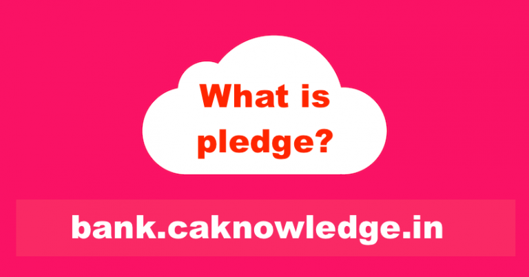 What is pledge?