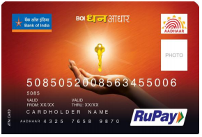 First RuPay ATM & Micro ATM Card with Aadhaar Number