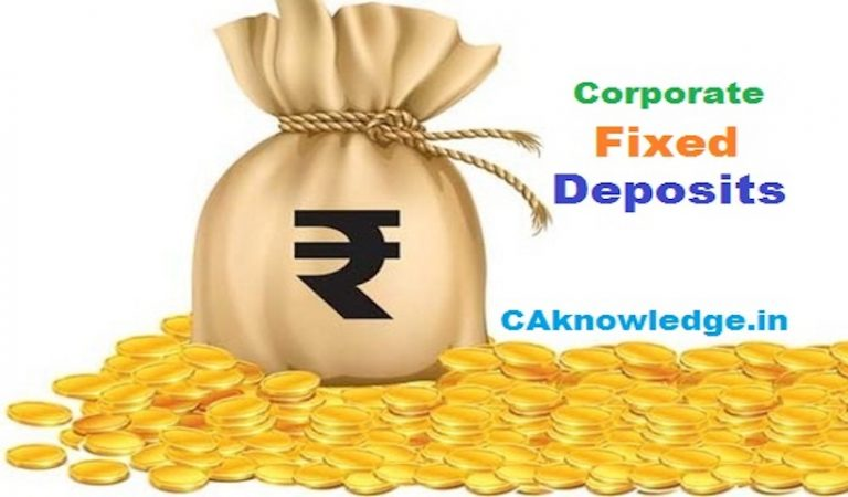Investments in Corporate Fixed Deposits