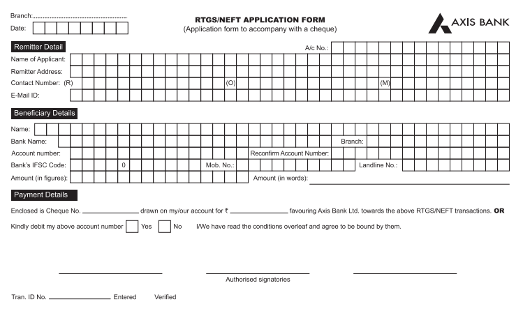 application form for outward remittance from nro account