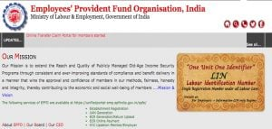 UAN, EPF Universal account number