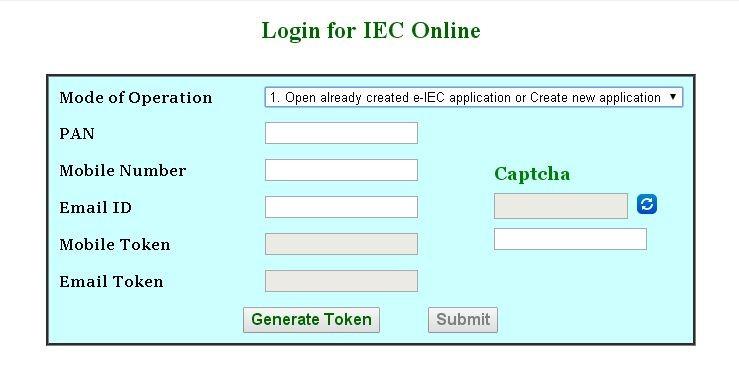 Login to IEC Online