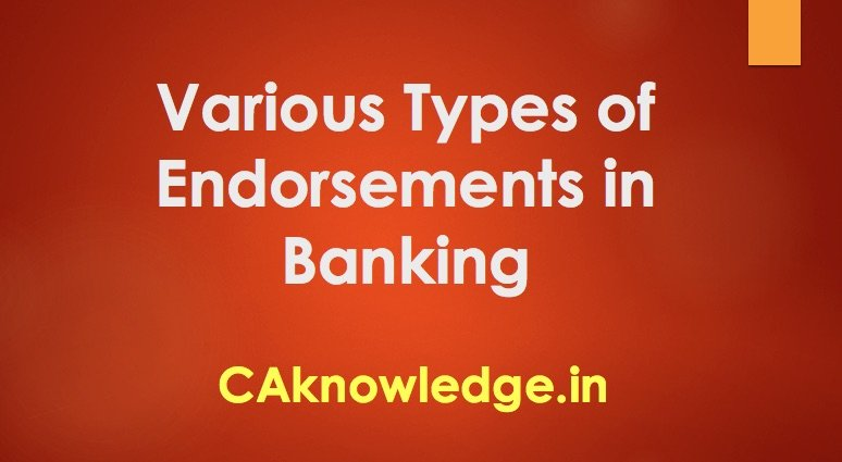 types of endorsements in banking