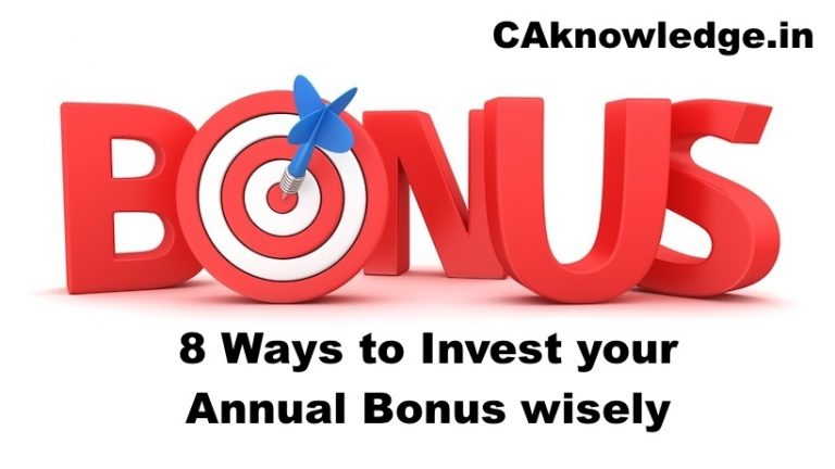 8 Ways to Invest your Annual Bonus wisely