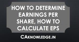 Determine Earnings Per Share
