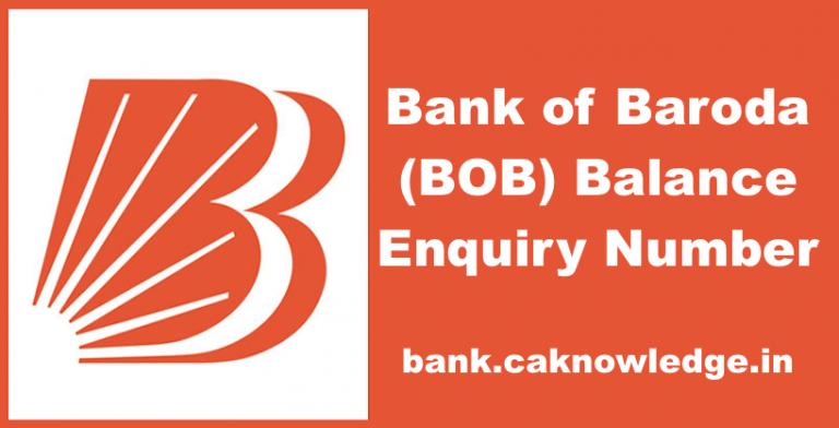 BOB Balance Enquiry Number