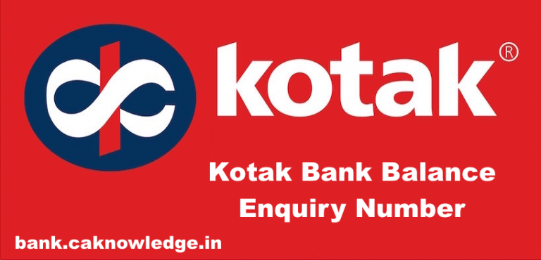 Kotak Bank Balance Enquiry Number