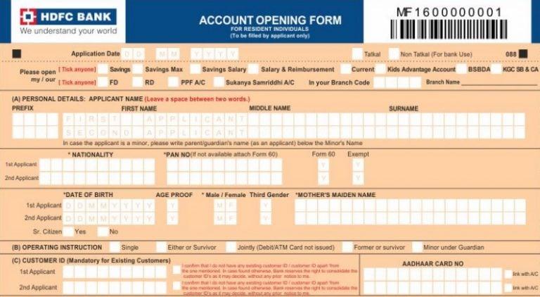 HDFC Bank Saving Account