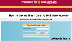 How to link Aadhaar Card to PNB Bank Account