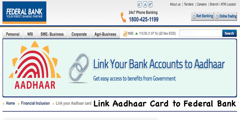 Link Aadhaar Card to Federal Bank
