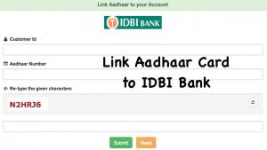 Link Aadhaar Card to IDBI Bank