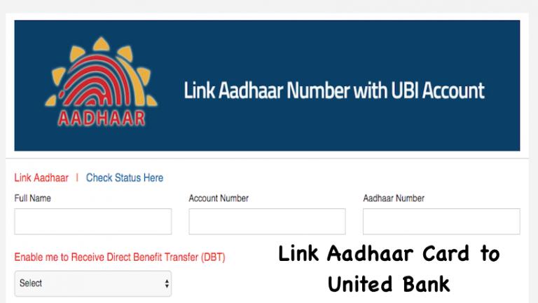 Link Aadhaar Card to United Bank