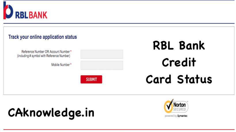 RBL Credit Card Status