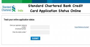 Standard Chartered Bank Credit Card Application Status Online