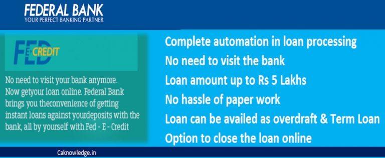 Federal bank's digital personal loan