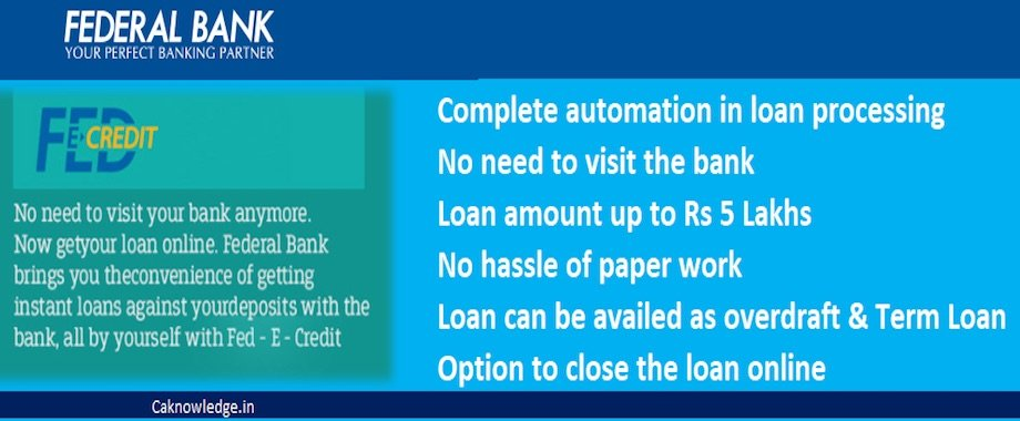 Federal bank's digital personal loan