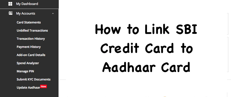 How to Link SBI Credit Card to Aadhaar Card
