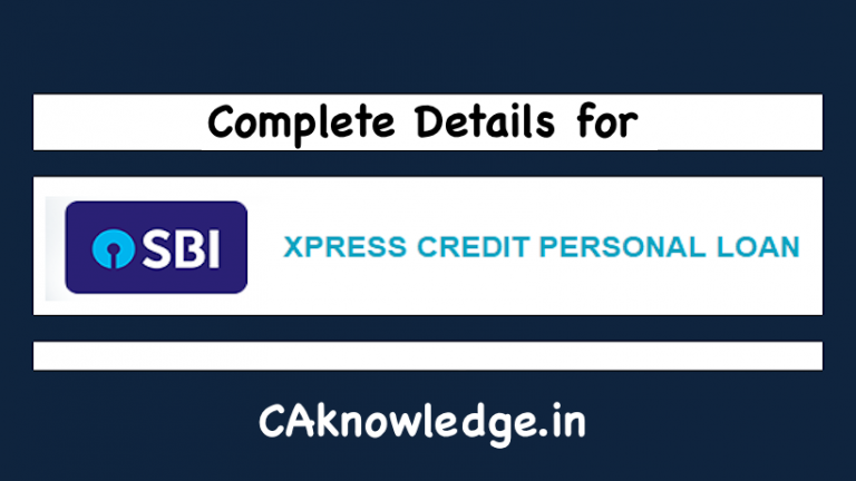 Xpress credit personal loans by SBI