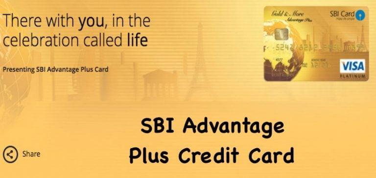 SBI Advantage Plus Credit Card