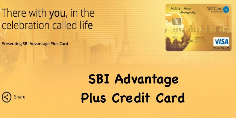 SBI Advantage Plus Credit Card