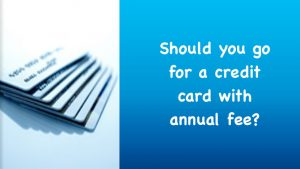 credit card with annual fee