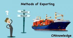 methods of exporting