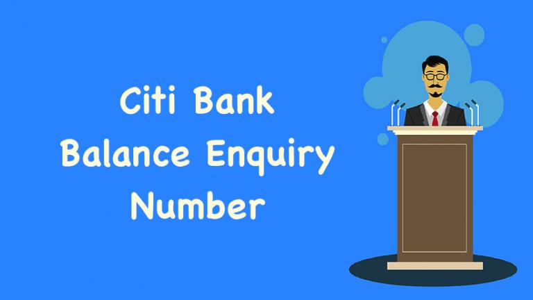Citi Bank Balance Enquiry Number