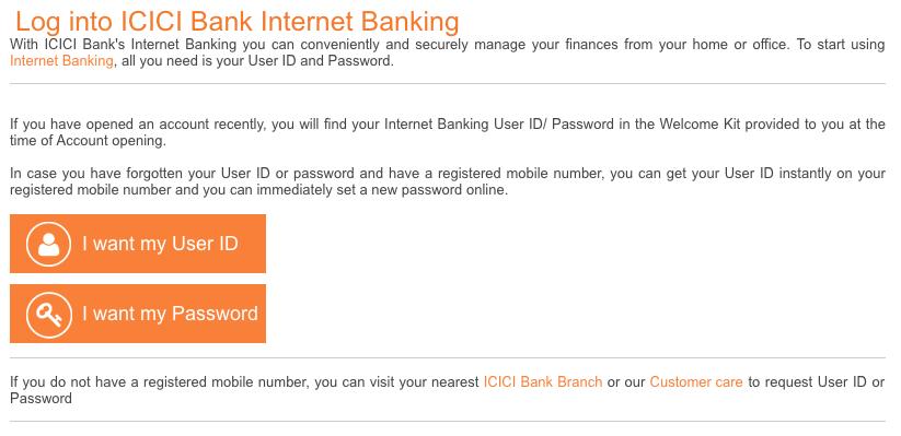 ICICI Bank Internet Banking