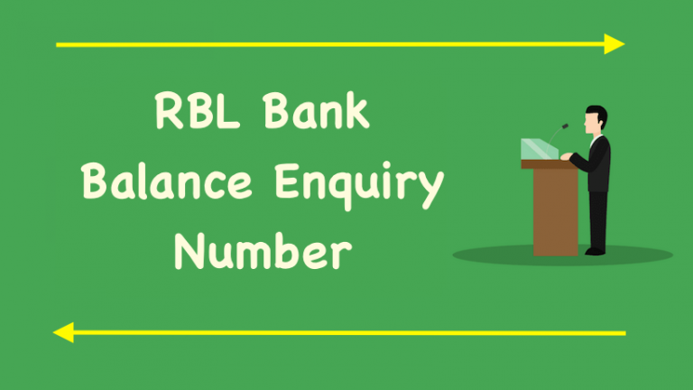 RBL Bank Balance Enquiry Number