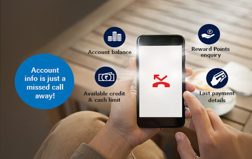 SBI Credit Card Balance by Missed Call
