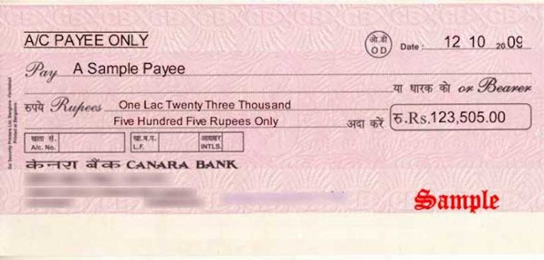 Bankers Cheque