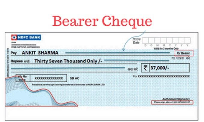 Bearer Cheque