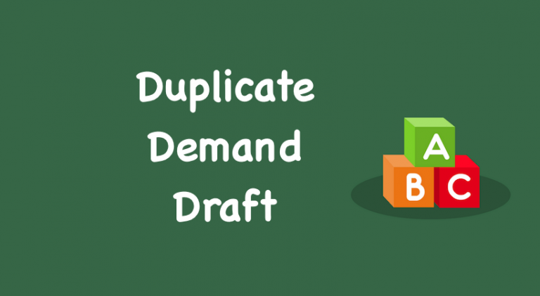 Duplicate Demand Draft