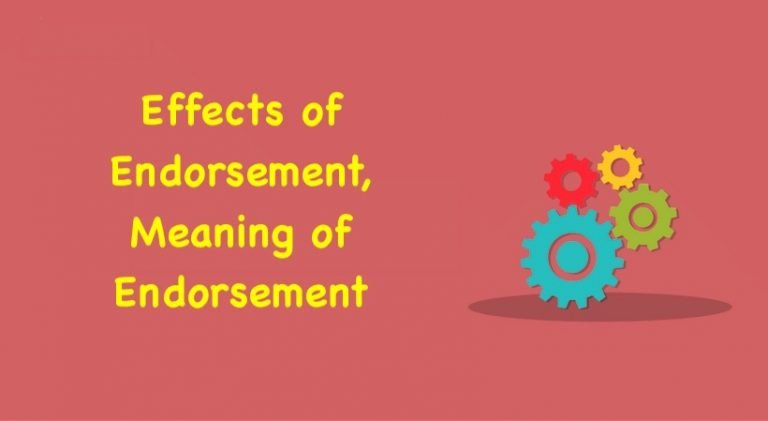 Effects of Endorsement