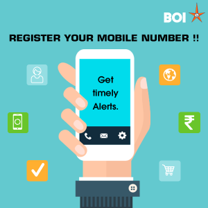 Register Mobile Number in Bank of India, change mobile number in Bank of India