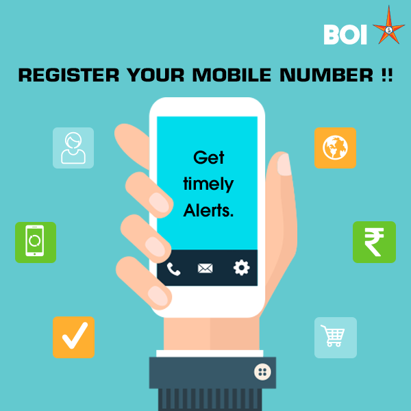 Register Mobile Number in Bank of India, change mobile number in Bank of India