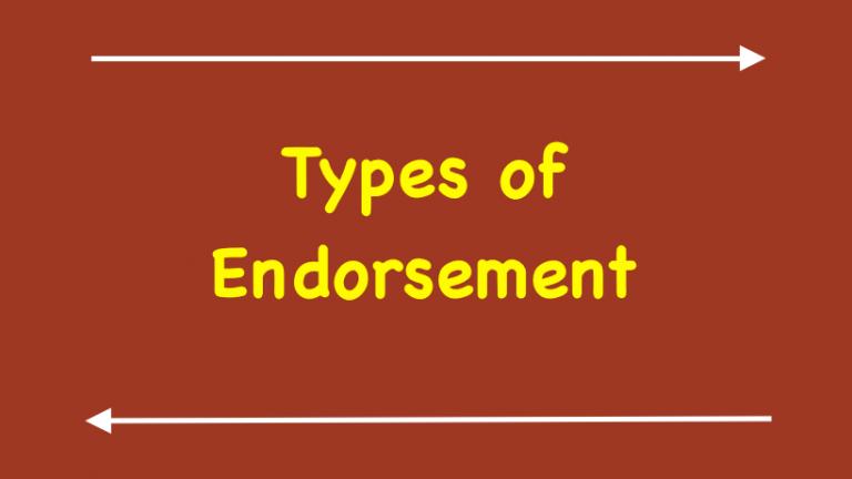 Types of endorsement