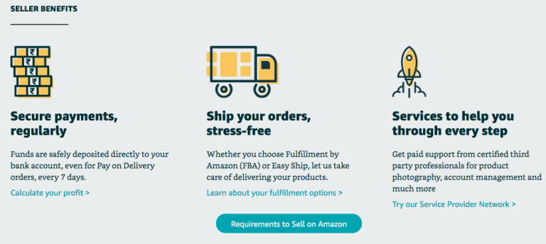 Register with Amazon as seller