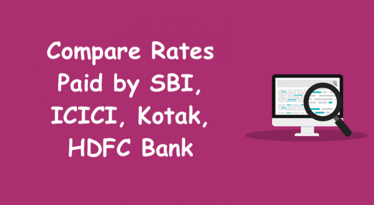 Compare FD Account Rates by SBI, ICICI, Kotak, HDFC