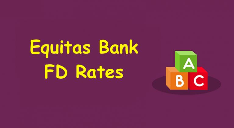 Equitas Bank FD Rates