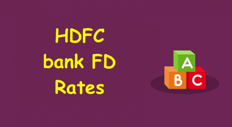 HDFC FD Rates
