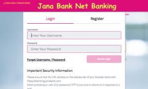 Jana Bank Net Banking