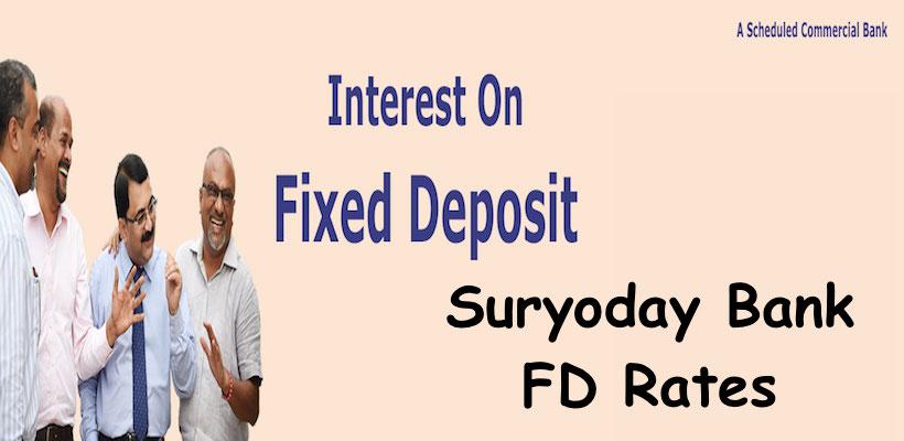 Suryoday Bank FD Rates