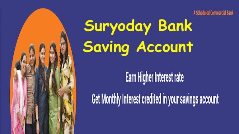 Suryoday Bank Saving Account