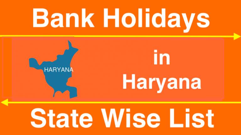 Bank Holidays in Haryana