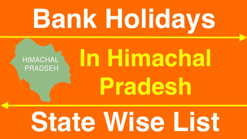 Bank Holidays in Himachal Pradesh