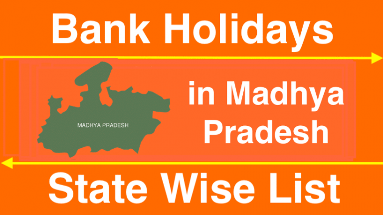 Bank Holidays in Madhya Pradesh