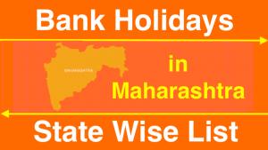 Bank Holidays in Maharashtra